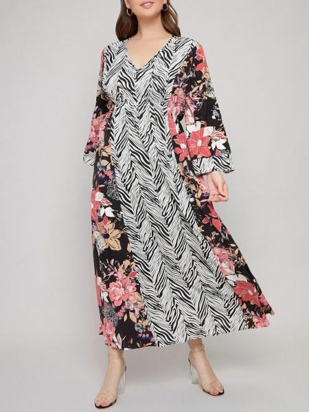 Флорална макси рокля