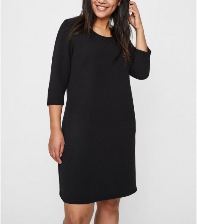 Черна рокля средна дължина