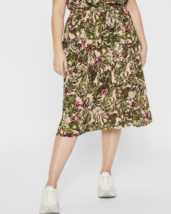Ефирна флорална пола голям размер