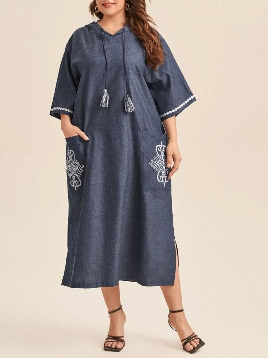 Спортно-елегантна рокля от памук