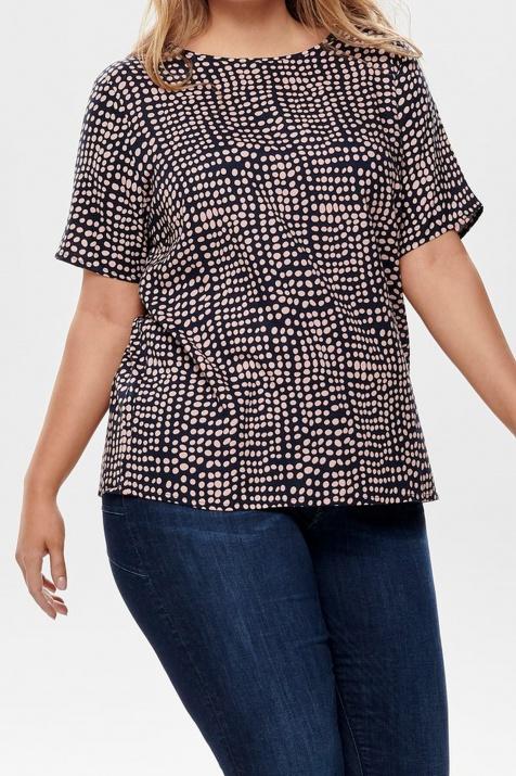 Ефирна макси блуза на точки