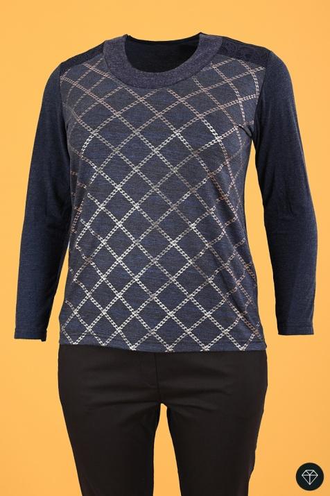 Ежедневна дамска блуза Индиго 6xl снимка 1