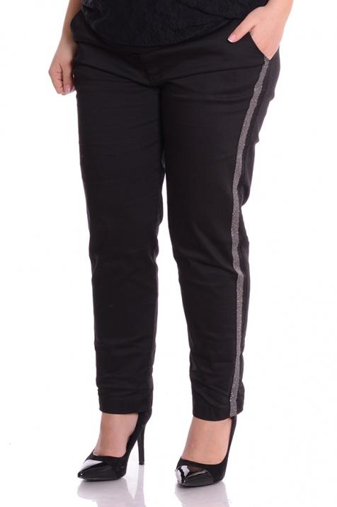 Елегантен панталон със сребриста лента снимка 1