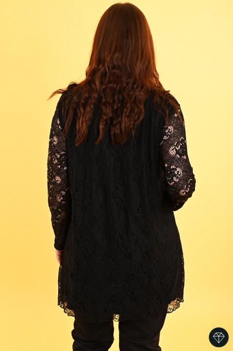Елегантна туника  от черна красива дантела снимка 1