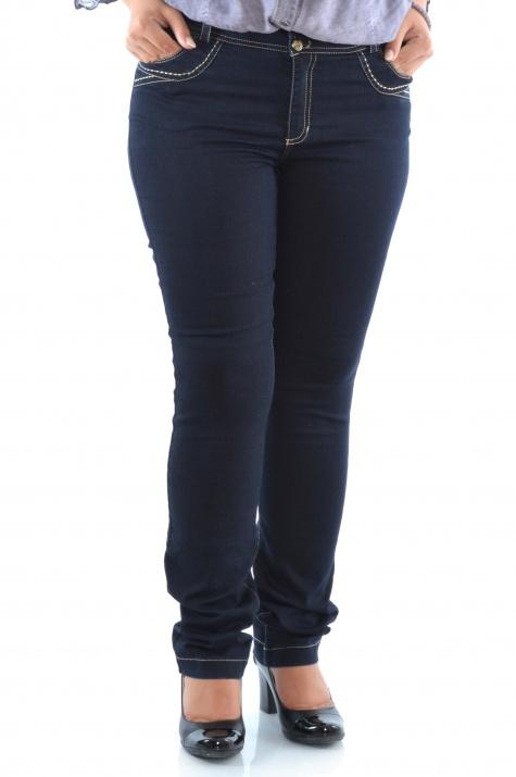 Елегантни дънкови панталони Индиго снимка 1