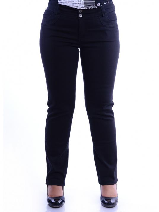 Елегантни дънкови панталони в черно снимка 1