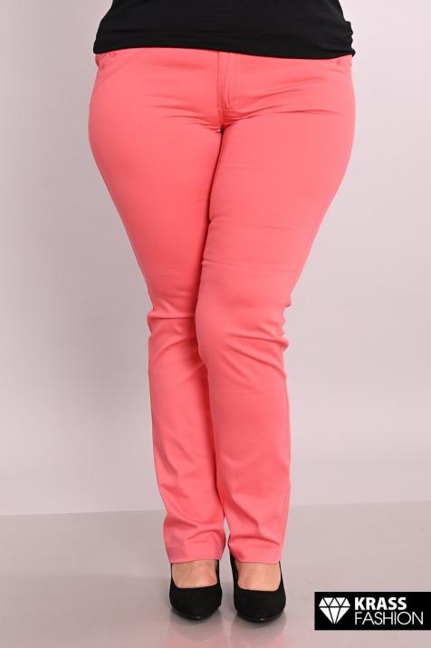Елегантен макси панталон в цвят корал