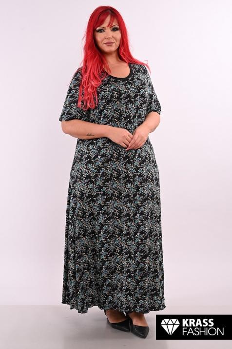 Дълга лятна рокля в големи размери