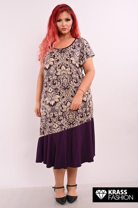 Макси рокля в лилави цветове