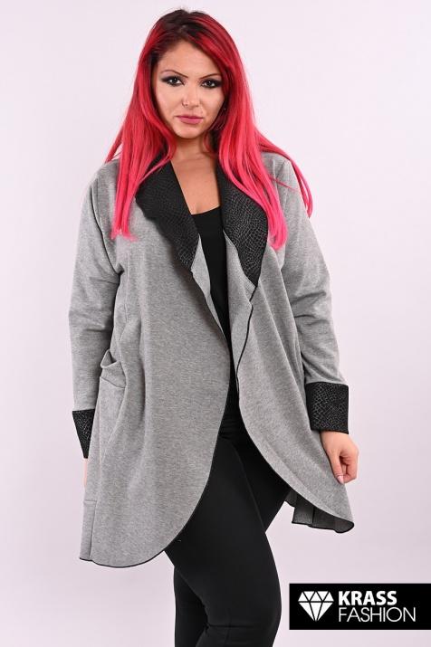 Дамски жакет в сив цвят
