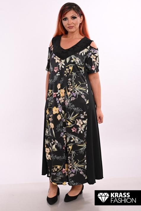 Страхотна лятна макси рокля с открити рамене