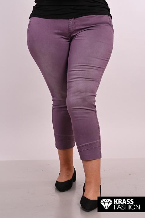 Летен макси панталон в лилав цвят