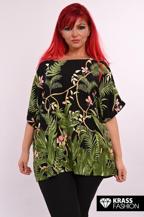 Свежа блуза с широк ръкав Тропикал