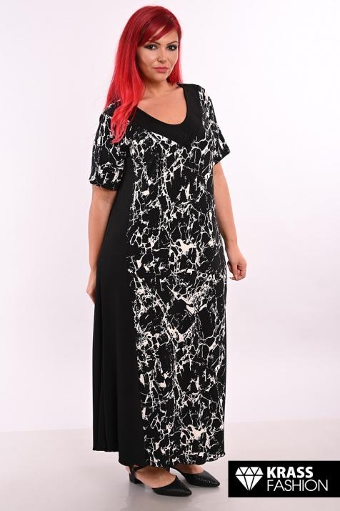 Дълга разкроена макси рокля Мрамор