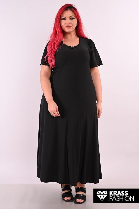 Дълга черна рокля в големи размери