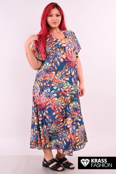 Лятна рокля в пъстри цветове