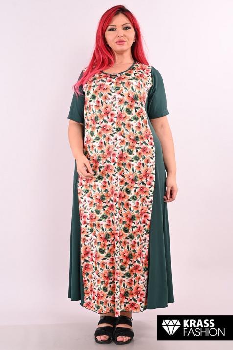 Дълга флорална макси рокля