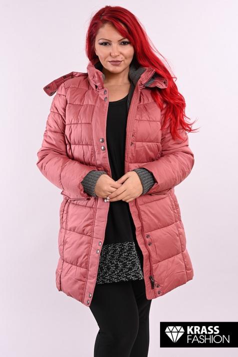 Дебело зимно яке в красив цвят