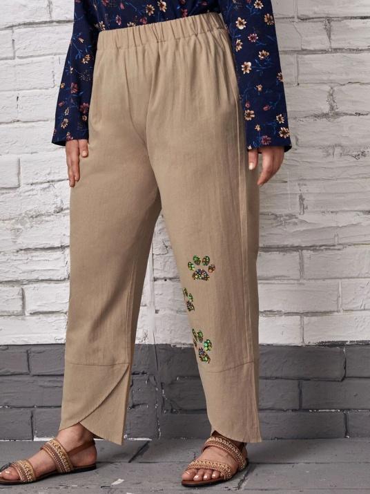 Летен макси панталон от памук