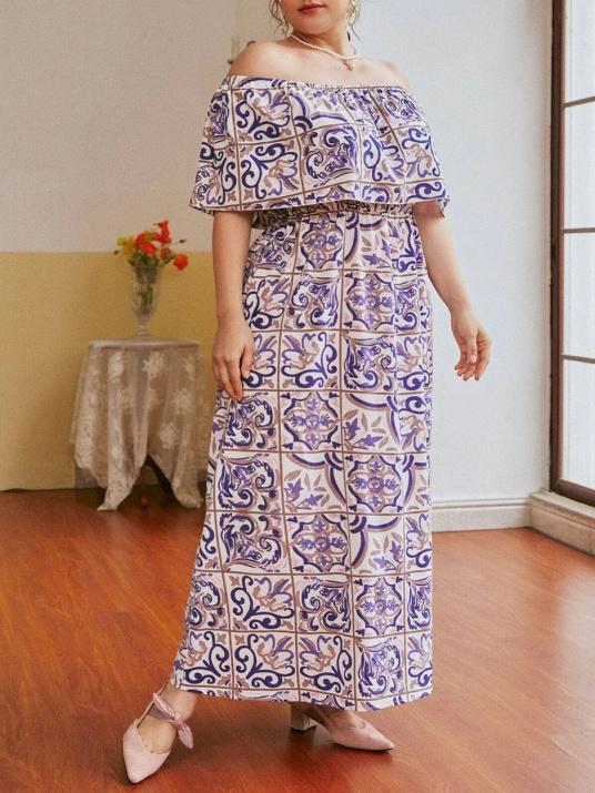 Нежна рокля с открити рамене