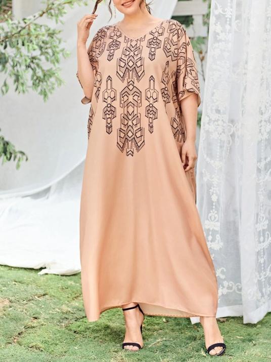 Лятна рокля в свободна кройка